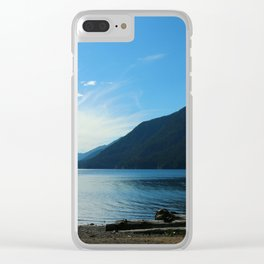 Lake Crescent Shore Clear iPhone Case