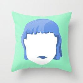 EMPTY FACES #1 Throw Pillow
