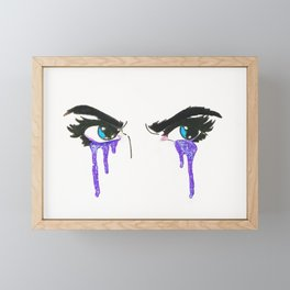 Crying Glitter Framed Mini Art Print