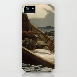 The Fog Warning / Halibut Fishing by Winslow Homer iPhone Case