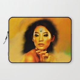 Green Eyed Beauty Laptop Sleeve