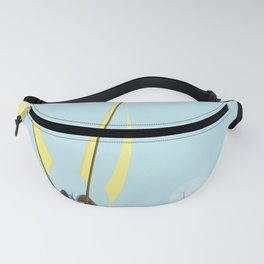 Flying with May towards the West in May - shoes stories Fanny Pack