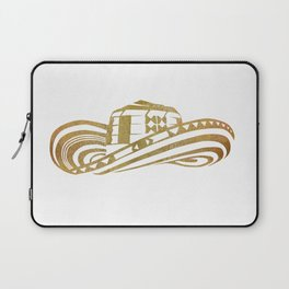 Colombian Sombrero Vueltiao in Gold Leaf Style Laptop Sleeve
