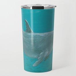 """Shallow Reef"" by Amber Marine ~ Dolphin Art ~ Acrylic Painting, (Copyright 2014) Travel Mug"