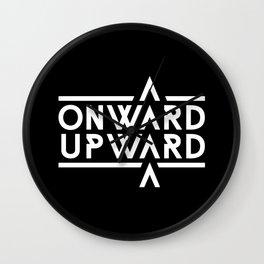 Onward Upward Wall Clock