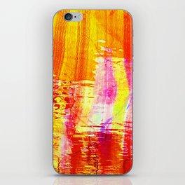 Burnt orange reflection on Lagoon iPhone Skin