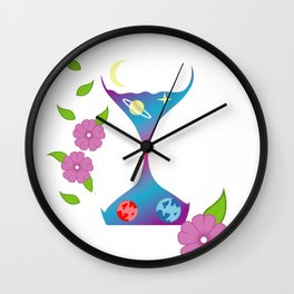 Hourglass Artist Or Illustrator Gift Wall Clock