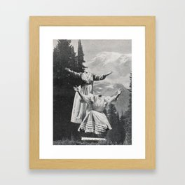 It hurts at first Framed Art Print