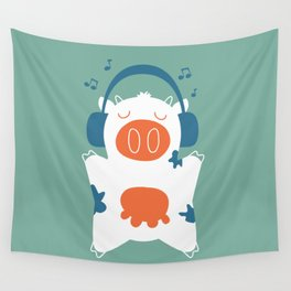 Music cow Wall Tapestry