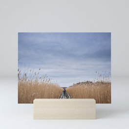Lake Kaņieris. || Latvia. || Real Life. || Winter morning. || Bent. || Nature. || Landscape. Mini Art Print
