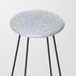 mathematical rotating roses - ice gray Counter Stool