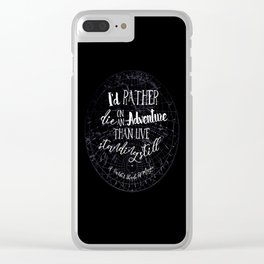 Lila Bard - Die On An Adventure Clear iPhone Case