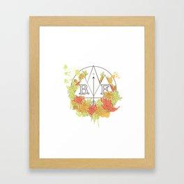 Bif flower Framed Art Print