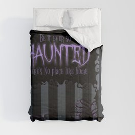 Be it ever so Haunted, there's no place like Home - Dark Gray Comforters