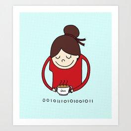 A Cup of Java Art Print