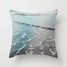 neon ocean Throw Pillow