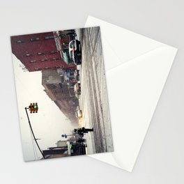 Snowy Day in Greenpoint, Brooklyn Stationery Cards