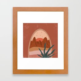 The Window View Framed Art Print