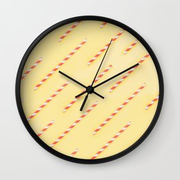 drinking straws Wall Clock