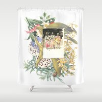 boys Shower Curtains featuring Boys Club by Collagevallente