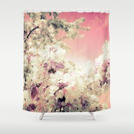 Pink Lavender Flowers Shower Curtain