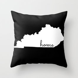 Kentucky State Map Home Gifts Throw Pillow