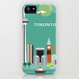 Toronto, Ontario, Canada - Skyline Illustration by Loose Petals iPhone Case