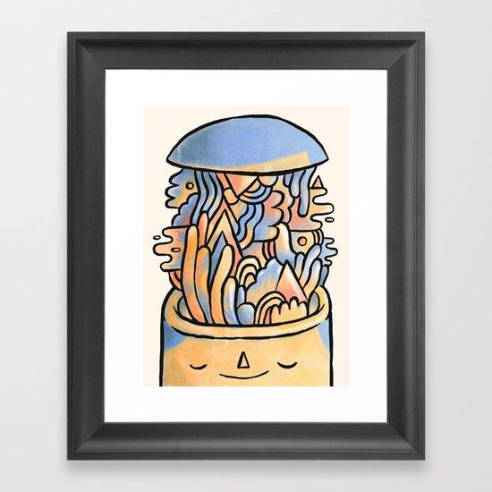 Mind Slime Framed Art Print