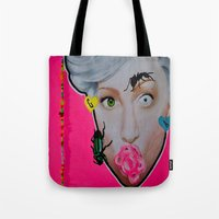 artrave Tote Bags featuring artRAVE by Sabino Martinez