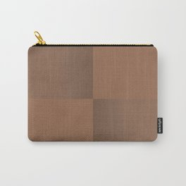 Dark Tan Leather Carry-All Pouch