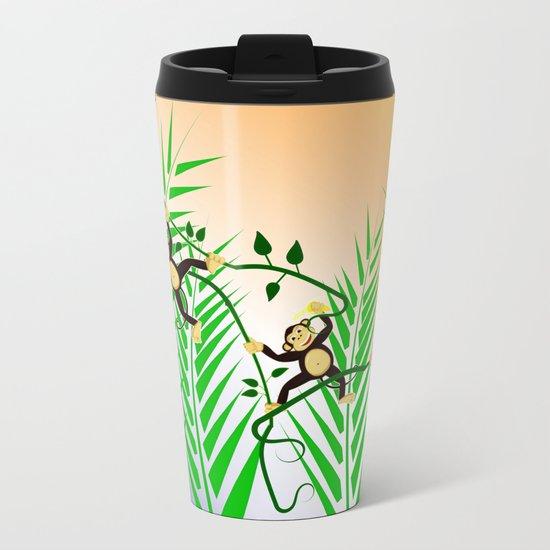 Funny Monkeys Metal Travel Mug