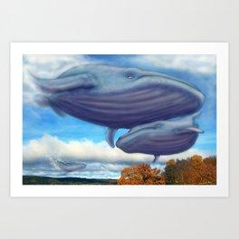 Sky Whales Art Print