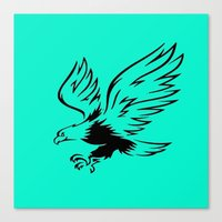 eagle Canvas Prints featuring Eagle  by ArtSchool
