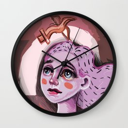 """What A Terrible World, What A Beautiful World"" by Kristin Frenzel Wall Clock"