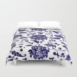 Chinese Floral Pattern Duvet Cover