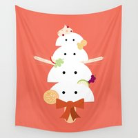 dessert Wall Tapestries featuring Dessert of Thankfulness by NaMomochi