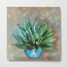 Aloe Plant Metal Print