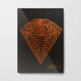 Zentangle - Diamond Metal Print