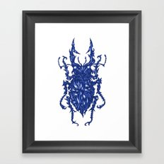 Azure Framed Art Print