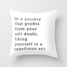 Liking Yourself Throw Pillow