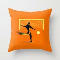 soccer Throw Pillows featuring Soccer by Enzo Lo Re
