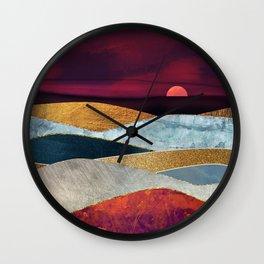 Crimson Sky Wall Clock
