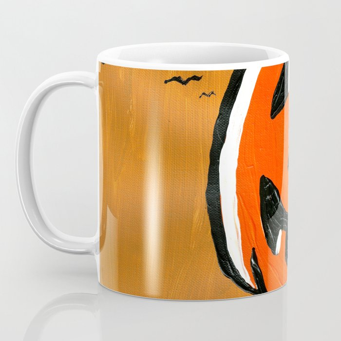 Vintage Jack o' Lantern and Bats Coffee Mug