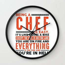 Being a Programmer Is Easy Shirt Everything On Fire Wall Clock