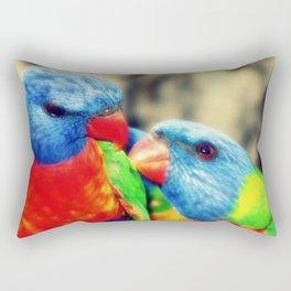 Rainbow Lorikeets Rectangular Pillow