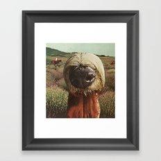 dog breath across a purple plain Framed Art Print