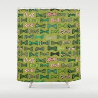 bow Shower Curtains featuring Bow ties by Akwaflorell