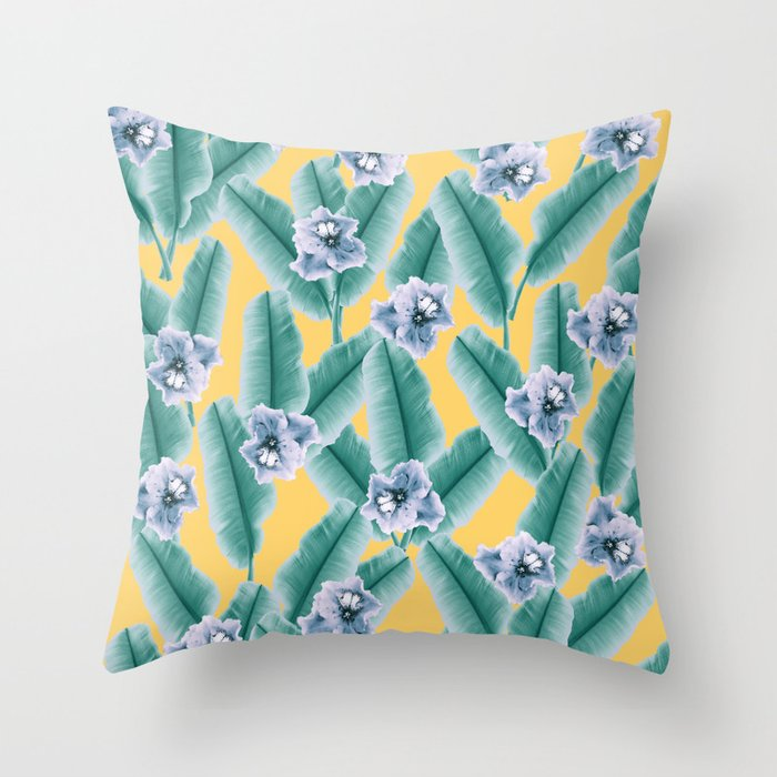 Buy Jungle Leaves Throw Pillow by