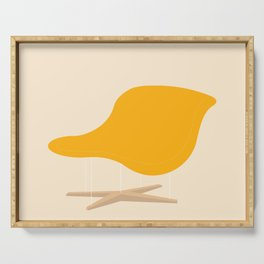 Yellow La Chaise Chair by Charles & Ray Eames Serving Tray