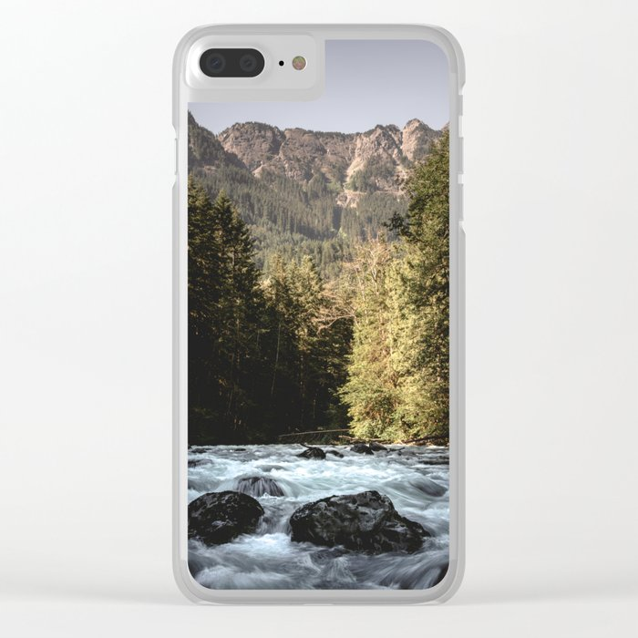 Mountain River Run Clear iPhone Case